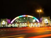 Hua zwiania phong stacja kolejowa przy nocą Obraz Stock