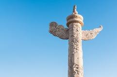 Huabiao för den PekingTiananmen fyrkanten, i Kina Arkivfoton