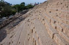 Huaca dans Miraflores, Lima, Pérou Photographie stock libre de droits