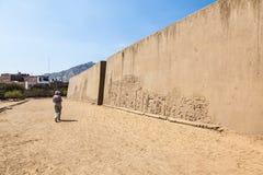 Huaca lub świątynia smok lub tęcza obrazy stock
