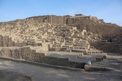 Huaca Pucllana or Huaca Juliana, a great adobe and clay pyramid royalty free stock photography