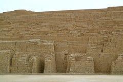 Huaca Pucllana, le rovine pre di Inca Ceremonial e sito amministrativo nel distretto di Miraflores, Lima, Perù immagine stock libera da diritti