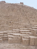 Huaca Pucllana Pyramide in aus Lima Peru Lizenzfreie Stockbilder