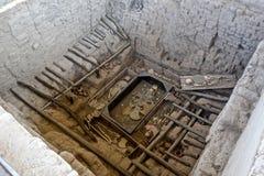 Huaca Rajada, de Koninklijke Graven van Lord van Sipan peru stock foto's