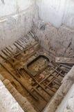 Huaca Rajada, Graven van Lord van Sipan Chiclayo, Peru royalty-vrije stock foto's