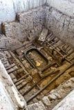 Huaca Rajada, Royal Tombs of the Lord of Sipan. Chiclayo, Peru. Ancient burial sites at the Huaca Rajada, the Royal Tombs of the Lord of Sipan. Chiclayo, Peru Royalty Free Stock Images
