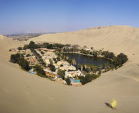 Huacachina oasis. In Ica desert, Peru Royalty Free Stock Images