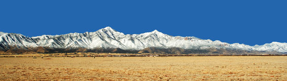 The Huachuca Mountains in Winter in Arizona Royalty Free Stock Photo
