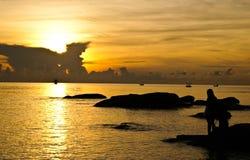 huahin ηλιοβασίλεμα Ταϊλάνδη Στοκ Φωτογραφίες