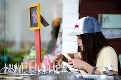 HUAHIN, Ταϊλάνδη: Πωλώντας παγωτό Στοκ φωτογραφίες με δικαίωμα ελεύθερης χρήσης