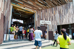HUAHIN, Ταϊλάνδη: Plernwan ένα από το δημοφιλές εκλεκτής ποιότητας ορόσημο αγοράς Στοκ φωτογραφία με δικαίωμα ελεύθερης χρήσης
