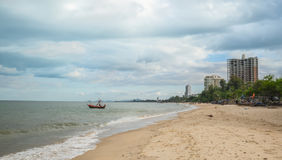 Huahin beach,Prachuap Khiri Khan Province,Thailand Stock Photo