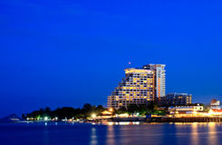 HuaHin City on Twilight sky, Thailand Royalty Free Stock Photos