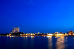 HuaHin City on Twilight sky, Thailand Royalty Free Stock Photos