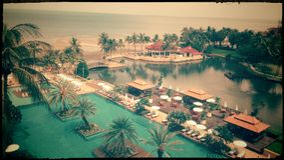 Huahin, Prachuabkirikhan, Tailandia - agosto 2014: Vista all'hotel di Dusit Thani Huahin Immagini Stock