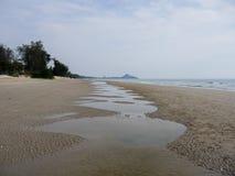 Huahin strand Arkivfoton
