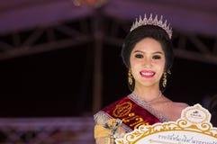 HUAHIN THAILAND-29APR, 2016年:壮丽的场面错过huahin 2016年,衣物 免版税库存图片
