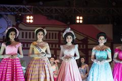 HUAHIN THAILAND-29APR,2016:The pageant miss huahin 2016,clothing. Retro style Stock Photos