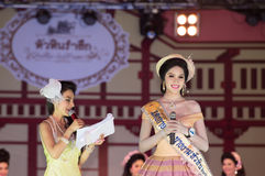 HUAHIN THAILAND-29APR,2016:The pageant miss huahin 2016,clothing. Retro style Stock Image