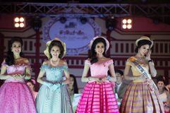 HUAHIN THAILAND-29APR,2016:The pageant miss huahin 2016,clothing. Retro style Stock Images