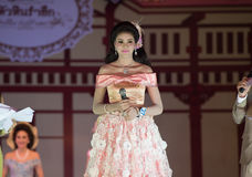 HUAHIN THAILAND-29APR,2016:The pageant miss huahin 2016,clothing. Retro style Royalty Free Stock Photo