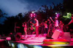 HUAHIN Thailand : Band is playing Royalty Free Stock Photography