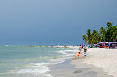 HUAHIN Thailand : Beach. View of HUAHIN beach it is most popular beach in Thailand Royalty Free Stock Photography