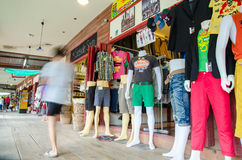 HUAHIN, Thailand : clothes shop Royalty Free Stock Photography