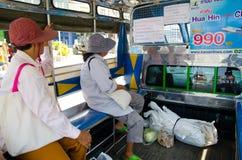 HUAHIN, Thailand : Local Bus. HUAHIN, Thailand : Passenger in local Bus Service Stock Image
