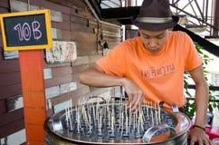 HUAHIN, Thailand : Man selling Icecream. In Plernwan One of popular vintage market landmark and many ativity located at Petchkasem Road Royalty Free Stock Photos
