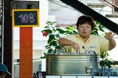 HUAHIN, Thailand : Selling ice cream. At Plernwan One of popular vintage market landmark and many ativity located at Petchkasem Road Royalty Free Stock Photo