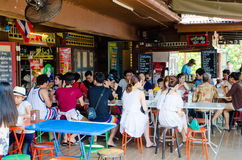 HUAHIN, Thailand : Street food. HUAHIN, Thailand : Plernwan One of popular vintage market landmark and many ativity located at Petchkasem Road Royalty Free Stock Image