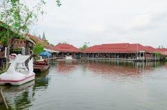 HUAHIN Thailand: vattenmarknad Royaltyfri Fotografi