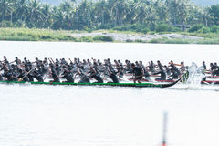 Huahin Traditional Thai long boats race 2016 Royalty Free Stock Images