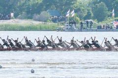 Huahin Traditional Thai long boats race 2016 Stock Image