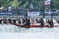 Huahin Traditional Thai long boats race 2016 Stock Photo