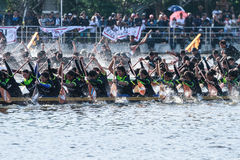 Huahin Traditional Thai long boats race 2016 Stock Images