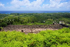 Huahine ancient stone structure French Polynesia Stock Photo