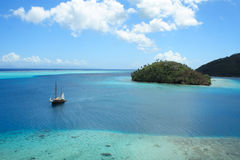Huahine Island. Society Islands - French Polynesia - Southern Pacific royalty free stock photo