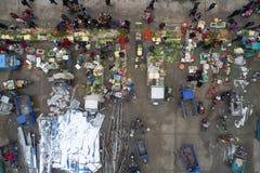 "Huai "", provincia di Jiangsu, Cina: la fiera di un nuovo anno rurale vivace immagini stock libere da diritti"