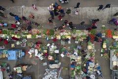 "Huai "", provincia di Jiangsu, Cina: la fiera di un nuovo anno rurale vivace immagine stock"