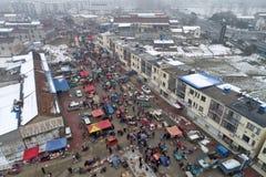 "Huai "", provincia di Jiangsu, Cina: la fiera di un nuovo anno rurale vivace fotografie stock"