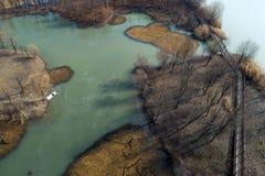Huai `an, Jiangsu Province, China: The Ancient Yellow River Wetland Park Looks Like An Oil Painting Royalty Free Stock Photos