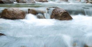 Huai Bae Waterfalls nel parco nazionale Lampang della giungla Fotografia Stock