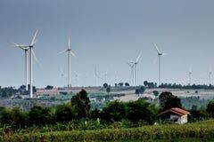 Huai Bong wind turbine field Royalty Free Stock Photo