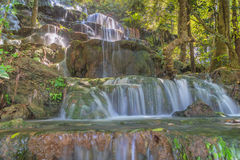 Huai Lao Waterfall  in rain forest at Loei Province in Thailand , Soft focus Stock Photography
