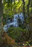 Huai Lao Waterfall  in rain forest at Loei Province in Thailand , Soft focus Royalty Free Stock Photography
