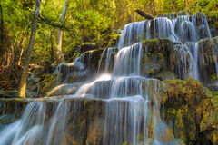 Huai Lao Waterfall  in rain forest at Loei Province in Thailand , Soft focus Royalty Free Stock Photos