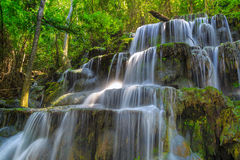 Huai Lao Waterfall  in rain forest at Loei Province in Thailand , Soft focus Royalty Free Stock Images