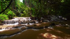 Huai Mae Kamin, beautiful waterfall stock video
